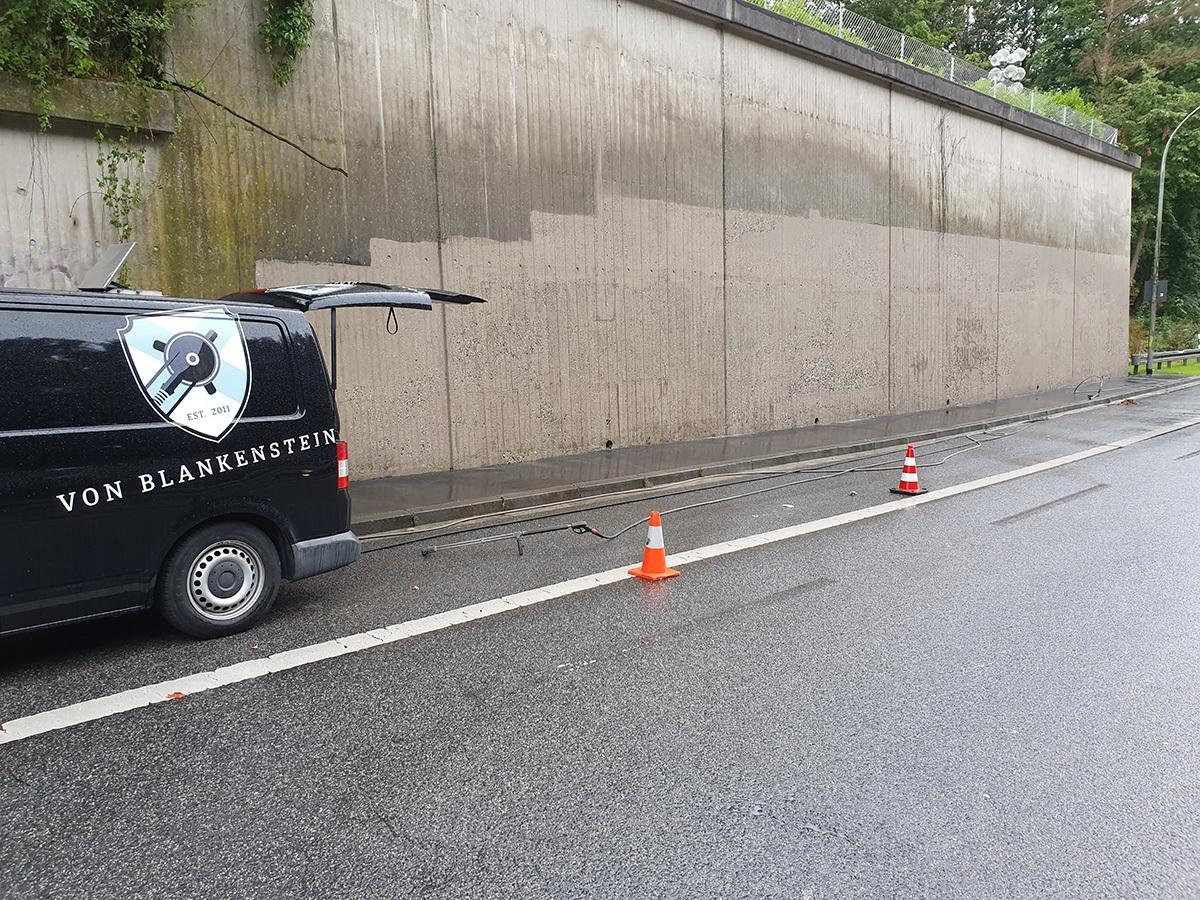 Graffiti nach der Entfernung